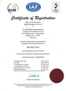 Certificate QMS ISO 9001 2015, BMIS, 201