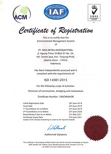 Certificate EMS ISO 14001 2015, BMIS, 20