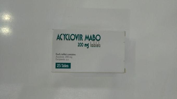 ACYCLOVIR MABO 200MG 25 TABLETS