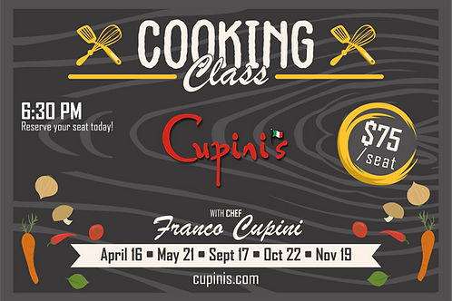 November 19th, 2020 Cooking Class