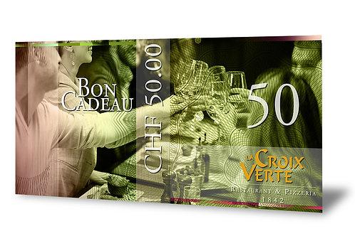 Bon Cadeau de 50 francs