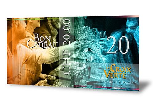 Bon Cadeau de 20 francs