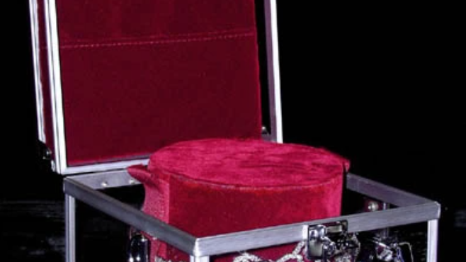 Crown Protective Case - Burgundy Interior with Strap
