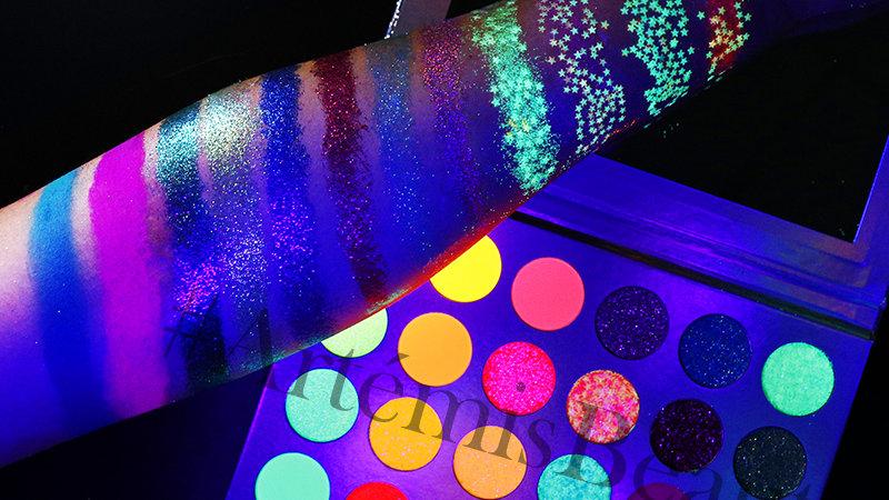 """""""Vaillance"""" Glitter /Neon/Glow in the Dark Palette"""