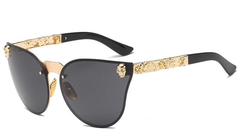 Skull Metal Frame Sunglasses