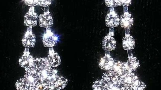 Diamond Tips Drop Earrings
