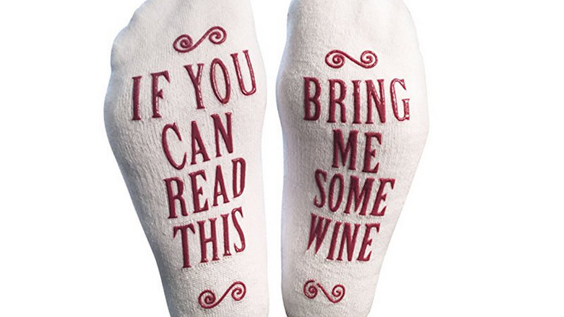 """Bring Me Some Wine"" Socks"