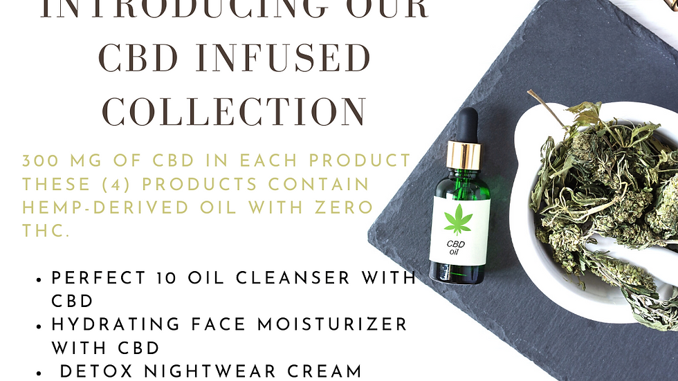 Choose 4 unique CBD-infused, full-sized products to start your skin care routine
