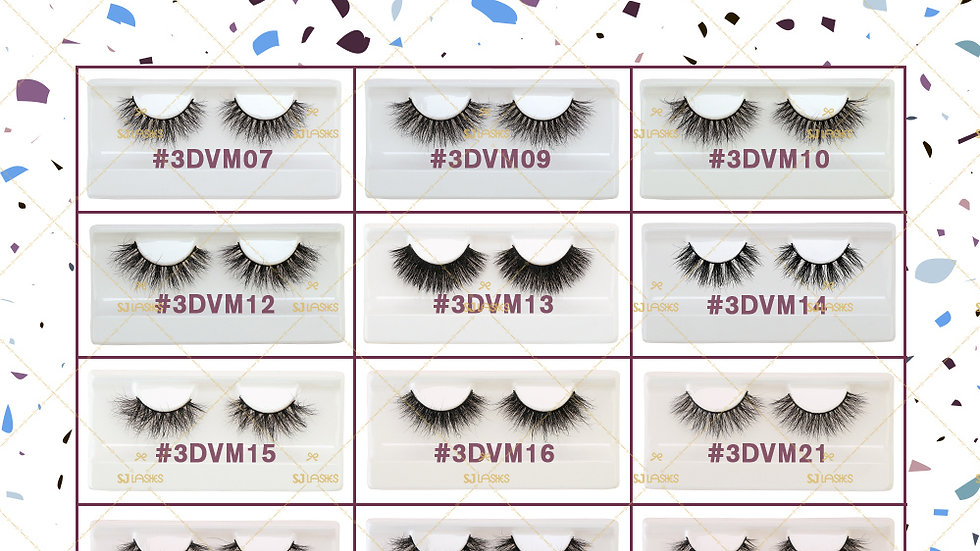 The BOMBSHELL Collection - 3D Mink Lashes