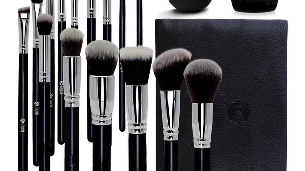 CEO - 18 piece Make up Brush Set (with bag)