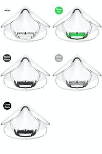 Leaf World's first UV powered transparent mask Indiegogo face mask colors