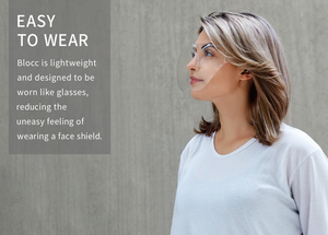 Blocc, Kickstarter, Stylish face shield, comfortable, reusable, easy to wear
