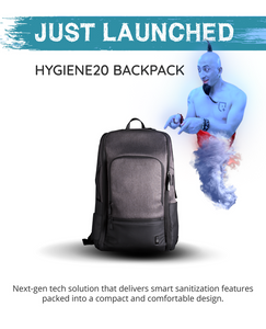 Hygiene20, kickstarter campaign, Backpack With Smart Sanitizing Features, backpack