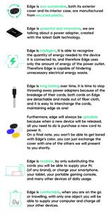 Edge green 100W GaN power adapter Italian style indiegogo description