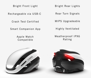 Lumos Ultra The New Standard In Bike Helmets Kickstarter Specifications