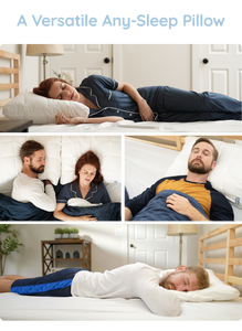 Nuzzle, one pillow for every sleeping position, nano-coil tech, temperature regulation, versatile any-sleep pillow