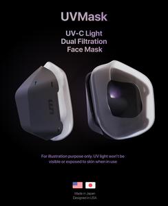 UVMask, Kickstarter, Face mask, air purification, dual filtration face mask,