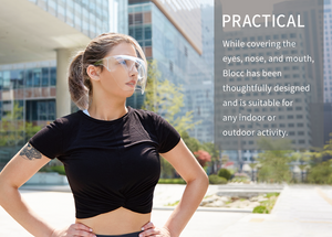 Blocc, Kickstarter, Stylish face shield, comfortable, reusable, practical