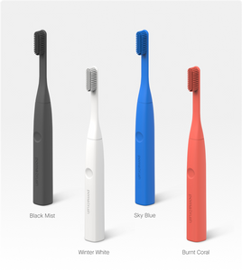 PomaBrush, Kickstarter, Toothbrush, Silicone Electric Toothbrush,  minimalist toothbrush, available colors