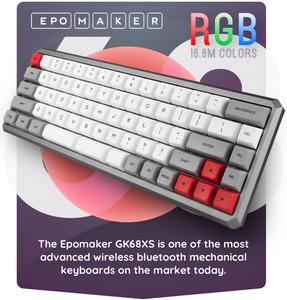 Epomaker GK68XS Bluetooth Mechanical Keyboard Kickstarter