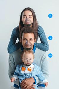 Leaf World's first UV powered transparent mask Indiegogo facemask size