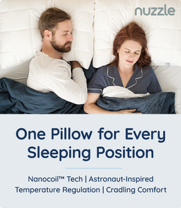 Nuzzle, one pillow for every sleeping position, nano-coil tech, temperature regulation