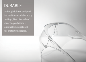 Blocc, Kickstarter, Stylish face shield, comfortable, reusable,