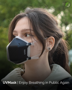 UVMask, Kickstarter, UV-C face mask, air purification mask, filters air pollutants, self-protection