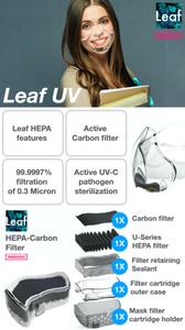 Leaf UV World's first UV powered transparent mask Indiegogo facemask