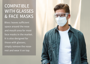 Blocc, Kickstarter, Stylish face shield, comfortable, reusable,  compatible with glasses, compatible with face mask,