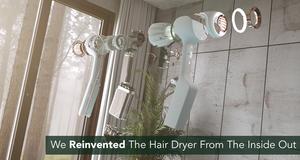 The Cordless AER Dryer Kickstarter hairdryer components