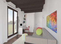 Camera degli ospiti e studio