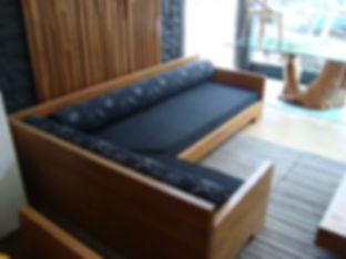 Sofá Rústico em Sala de estar