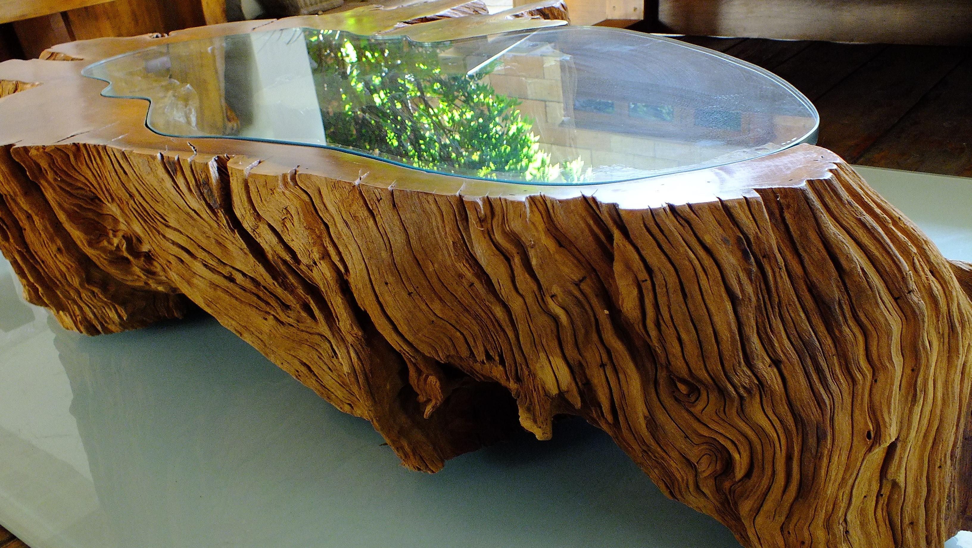 Mesa de centro Orgânica com vidro