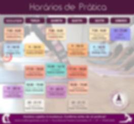 Horários de Prática de Yoga Mukti Yoga Shala