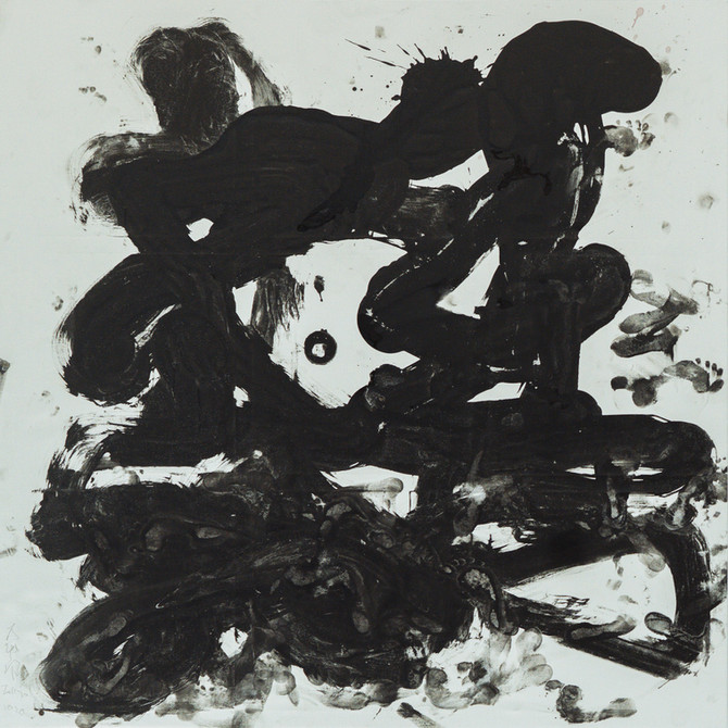 Fury-umonji / Sumi on canvas,2020 1950×1950mm