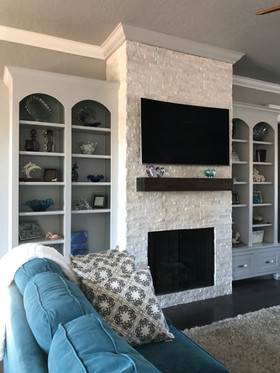 Custom Fire Place and Cabinets