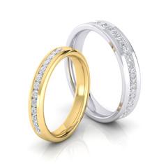 CHANNEL SET DIAMOND BANDS