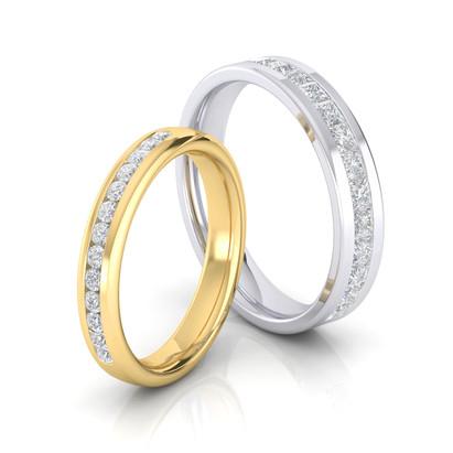 CHANNEL SET DIAMOND BANDSs