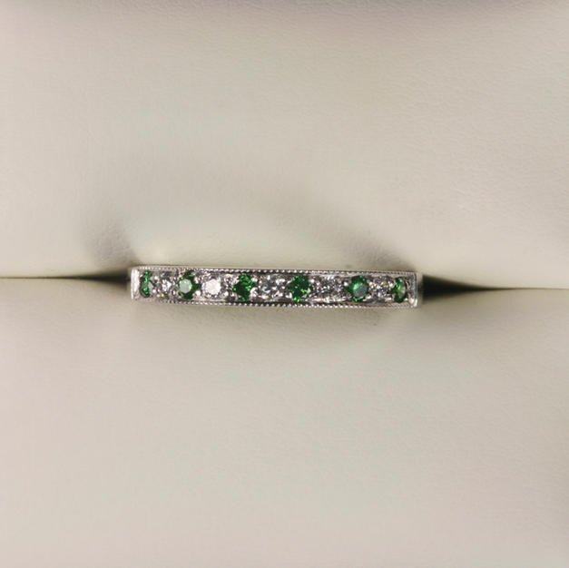 Green Diamond and Diamond Half Eternity