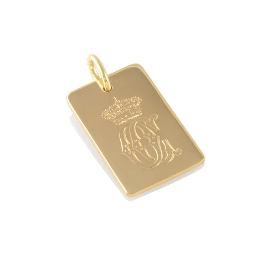 Gold personalised dog tag