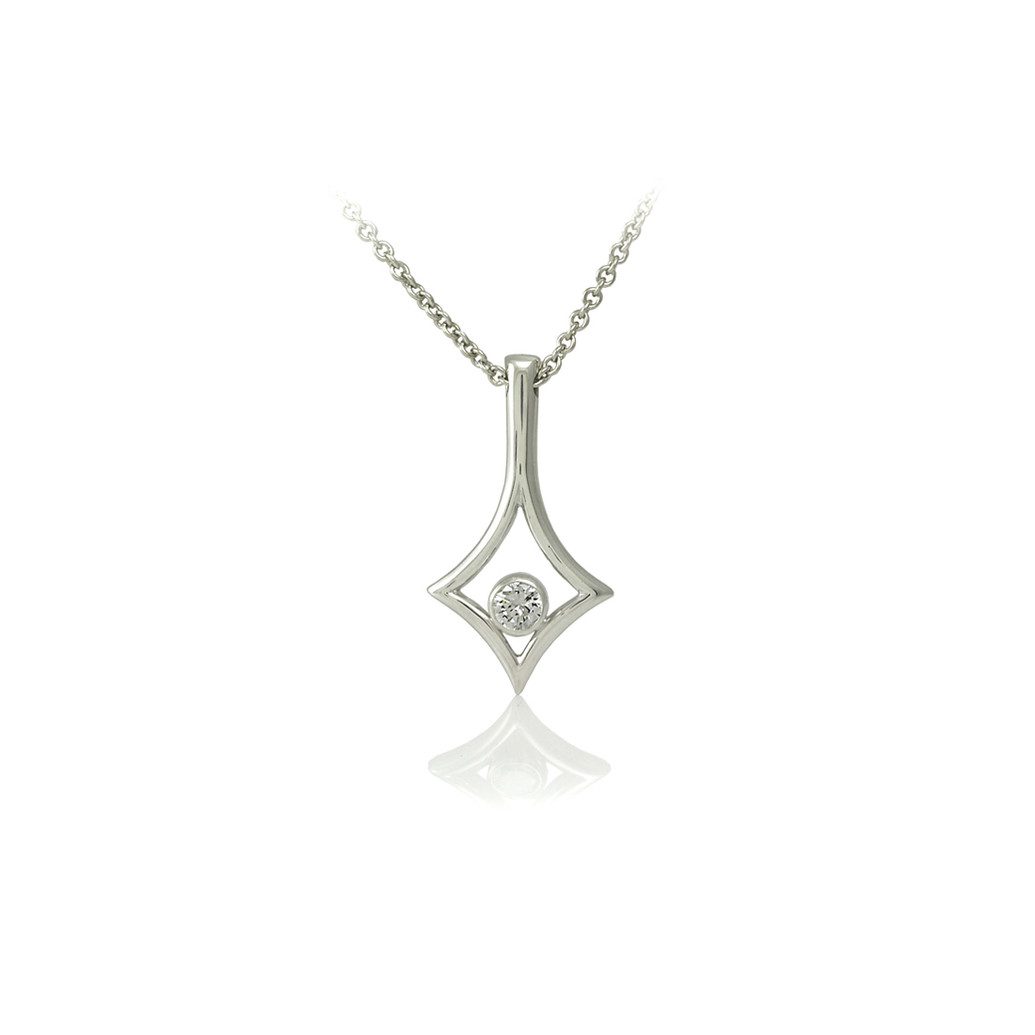 Diamond shaped pendant