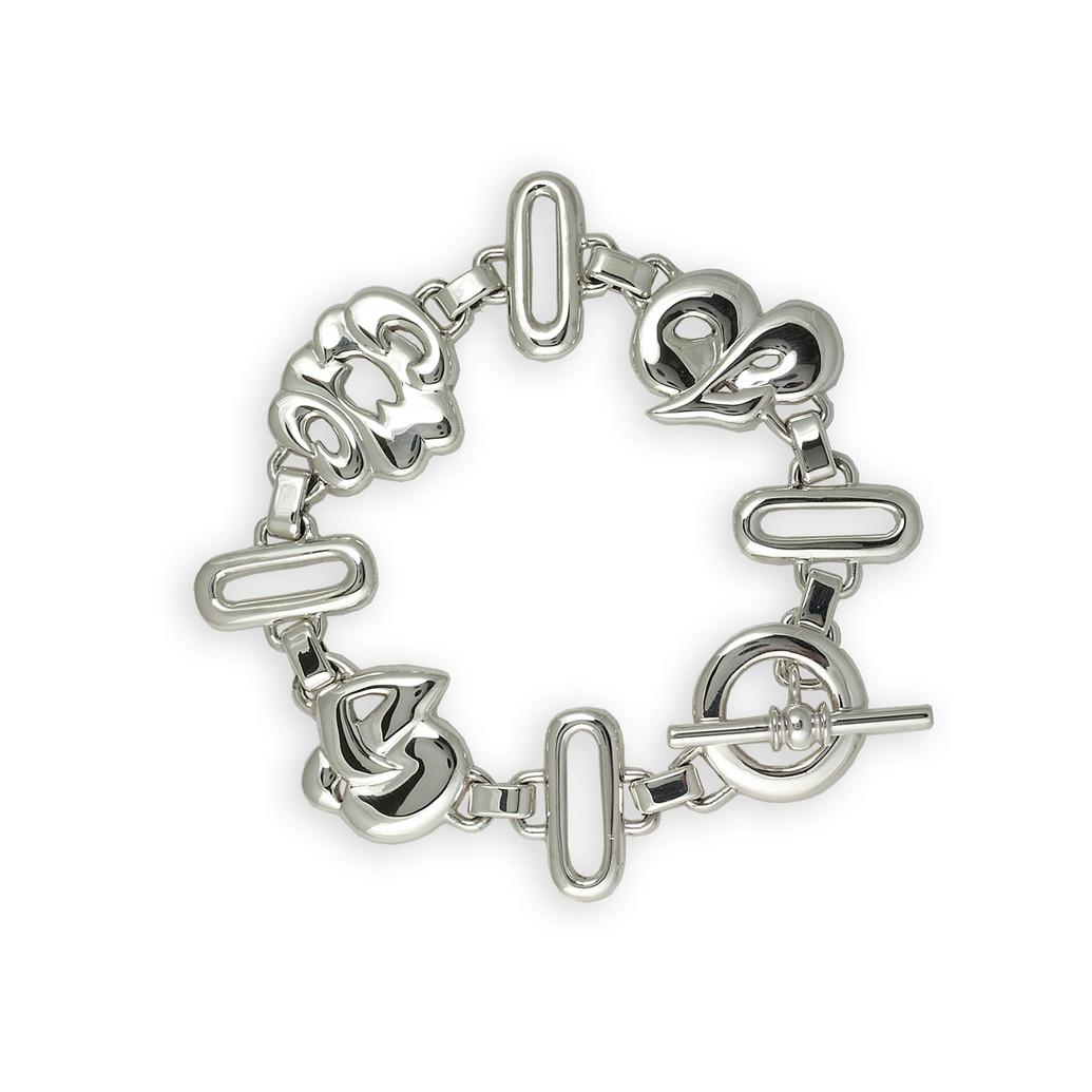 Personalised linked bracelet