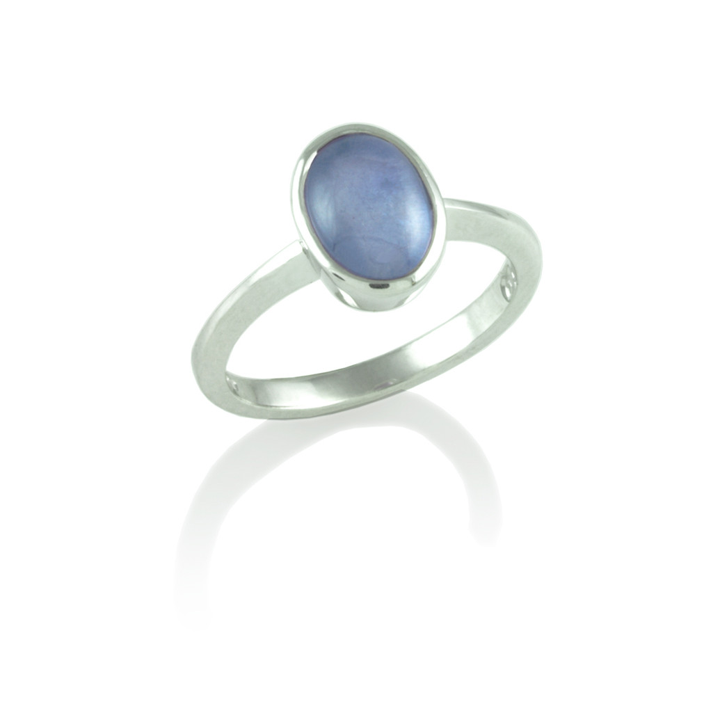 Star Sapphire rubover set ring