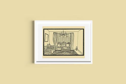 A3 Art Print - Mother's Living Room