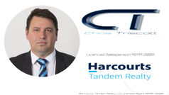 Chris Triscott Harcourts logo.png