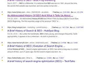 3 Histories of SEO