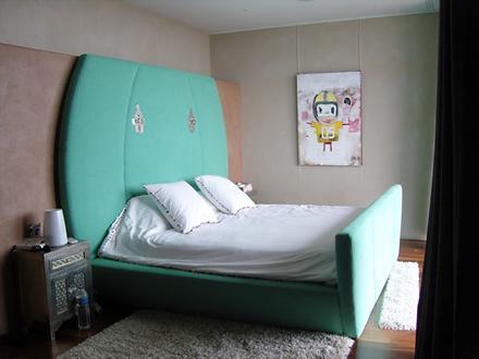 Création d'une tête et d'un pied de lit sur Mesures, à tranches, finition Passepoil