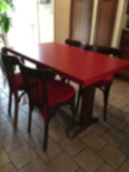 Création de 4 galettes de chaises pour Chaises Bistrot