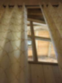 Paire de Rideaux Doublés: Lin Coton/ Finition Oeillets